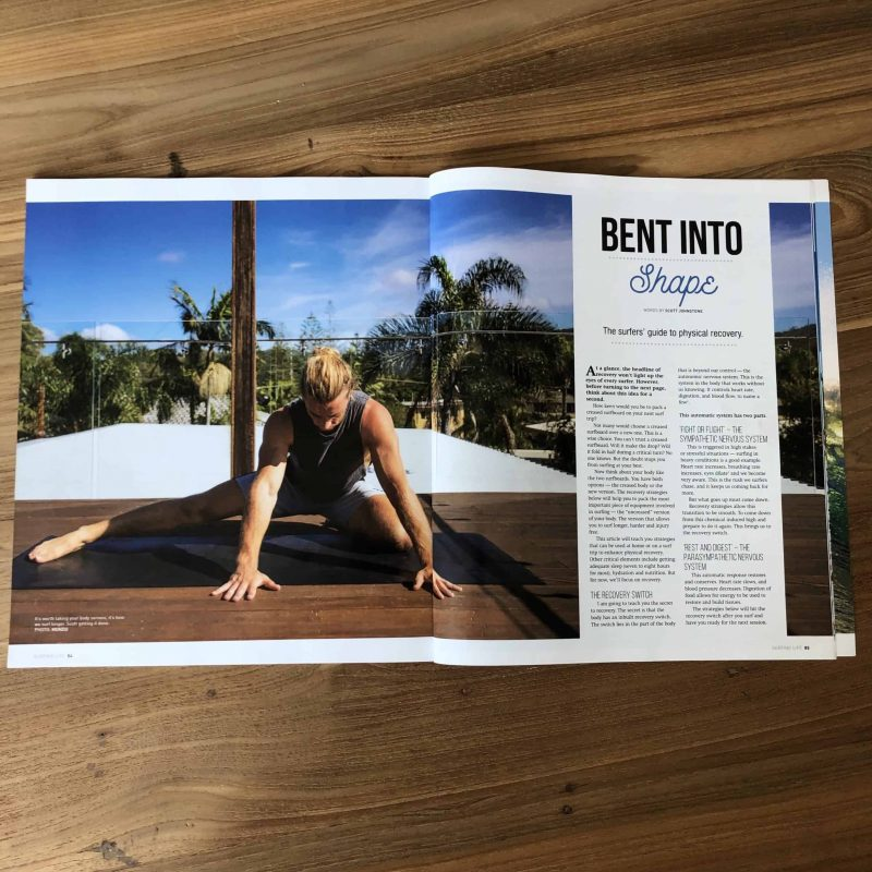 Scott Johnstone Physio features in Surfing life with The Surfers Guide To Physical Recovery
